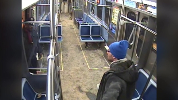 [CHI] Video of Man Allegedly Sparking Fire on CTA Train, Tussling With Cops Released
