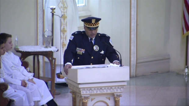 """""""Cmdr. Bauer Was Not Defined by His Rank"""": Cpt. Roman Speaks at Cmdr. Bauer's Funeral"""