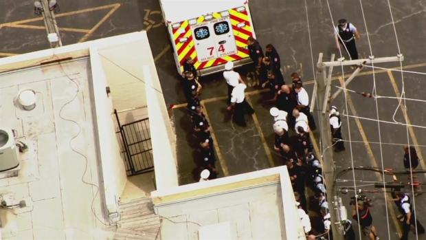 Firefighters Lead Procession for Diver to Funeral Home