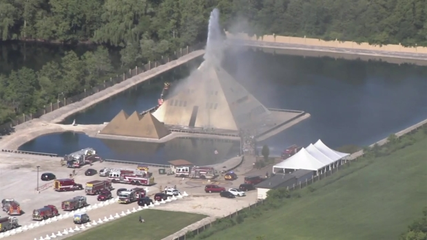 [CHI] Firefighters Battle Blaze at Golden Pyramid House