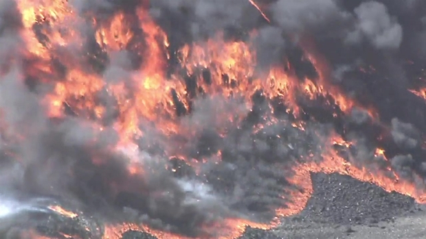 Tire Fire Burns on South Side
