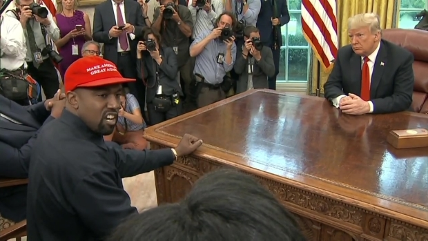 Part 1: Kanye West Speaks With President Trump in Oval Office