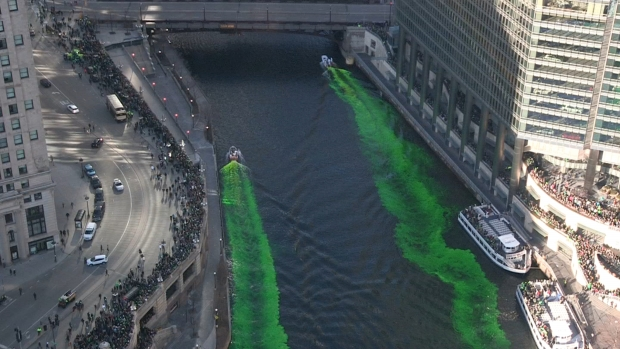 A Look at the 2019 Chicago River Dyeing