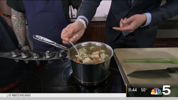 [CHI] Duck Inn Chef Shows Off 'Totes Kosher Matzo Ball Soup'