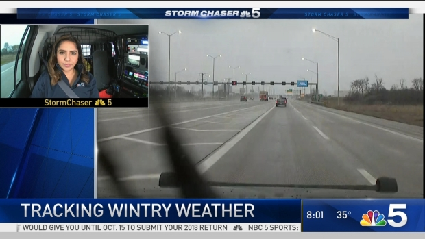 Tracking Wintry Mix in Chicago Sunday