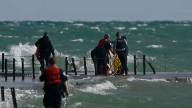 [CHI] Fisherman Rescued from Lake Michigan Near Montrose Beach