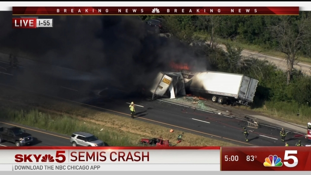 Semi Crash Closes Interstate 55