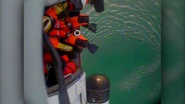 WATCH: Coast Guard Rescues 2 Floating in Lake Michigan