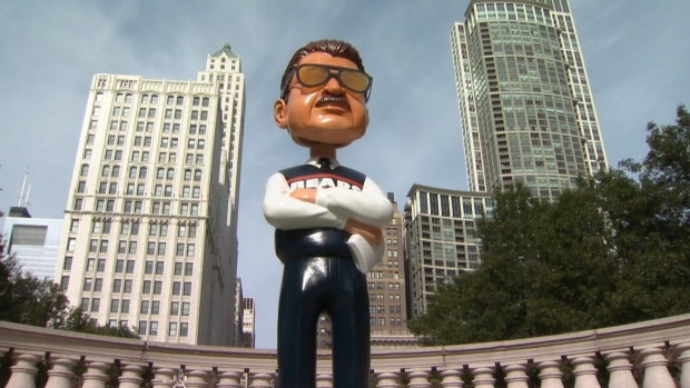 [CHI] This is What the 7-Foot-Tall Ditka Bobblehead Looks Like