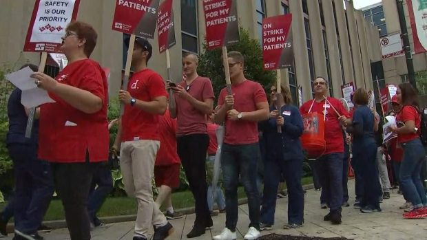 [CHI] University of Chicago Medical Center Nurses Go on Strike