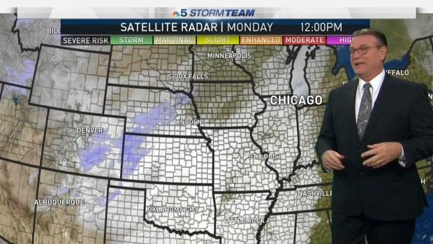 Monday's Evening Forecast