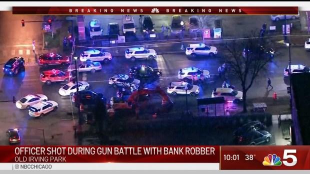Officer Shot During Gun Battle