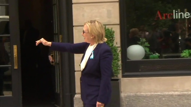 Clinton Leaves Daughter's Apartment 'Feeling Great'