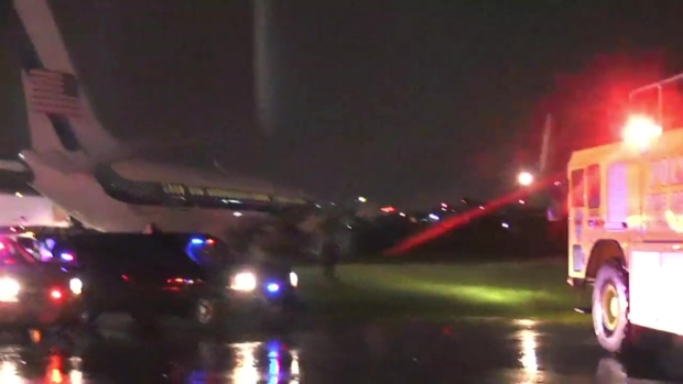 Mike Pence's plane overshoots runway at LaGuardia Airport in Queens