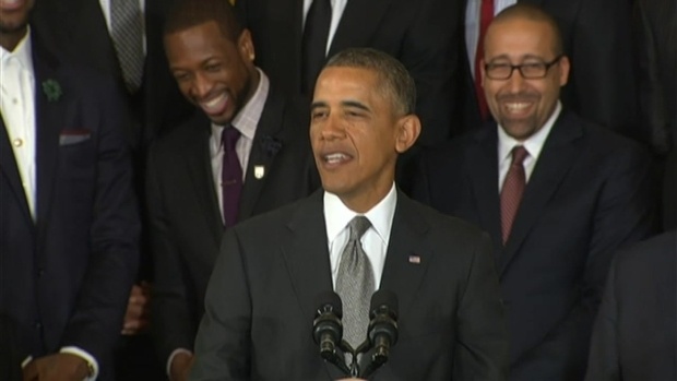[MI] President Barack Obama Thanks Miami Heat at White House