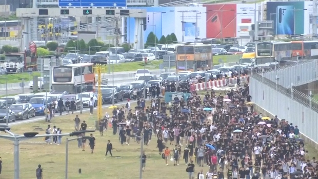 [NATL] Hong Kong Airport Cancels Flights After Protesters Crowd Terminal