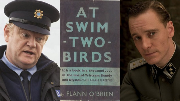 "Michael Fassbender Diving Into Brendan Gleeson's ""At Swim-Two-Birds"""