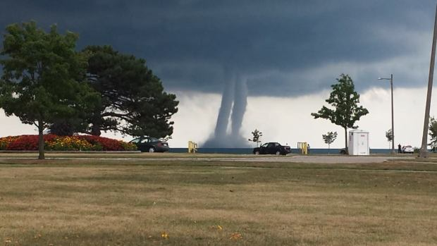 Waterspouts Touch Down Off Lakeshore
