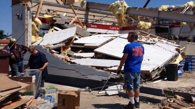 Platteville, Wisconsin Storm Damage