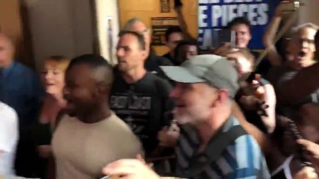 'Come From Away' Cast Performs Outside Theatre Amid NYC Blackout