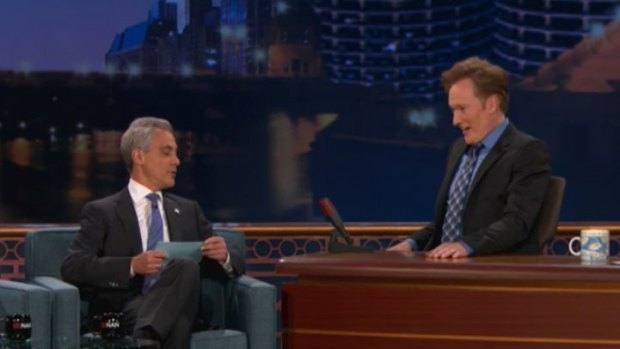 "Emanuel Makes Conan a Chicago ""Citizen"""