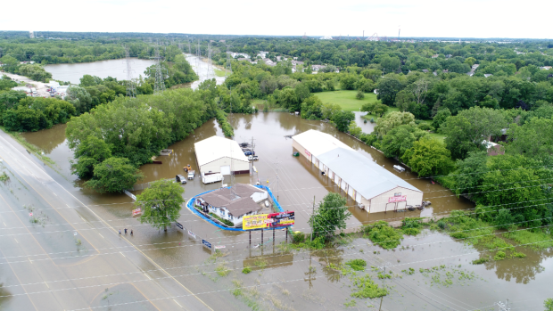 Drone Photos Show New Perspective of Lake County Flooding