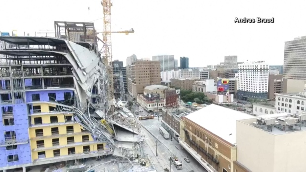 [NATL] Watch: Drone Footage Shows Hotel After Collapse