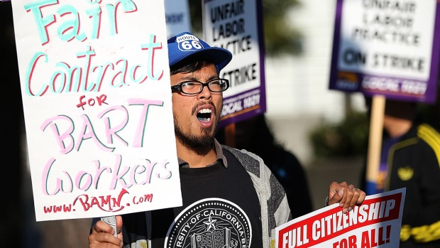 [BAY] Commuters Frustrated on Day 1 of BART Strike