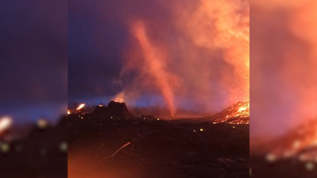 [NATL] 'Firenado' Captured in Kilauea's Volcanic Eruption