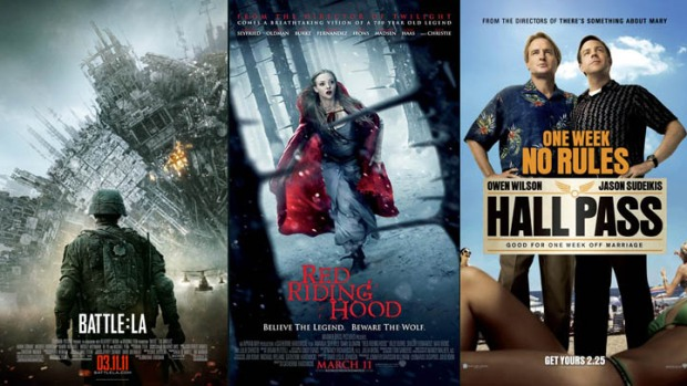 "New on Home Video: ""Battle: Los Angeles,"" ""Red Riding Hood"" & ""Hall Pass"""