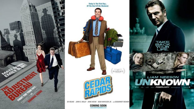 "New on Home Video: ""Adjustment Bureau,"" ""Cedar Rapids"" & ""Unknown"""