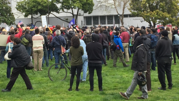 [NATL-BAY] Protesters, Police and Punches at 'March 4 Trump' Rally in Berkeley