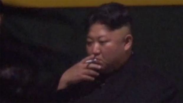 [NATL] N. Korea's Kim Jong Un Shown Smoking Despite Anti-Smoking Campaign