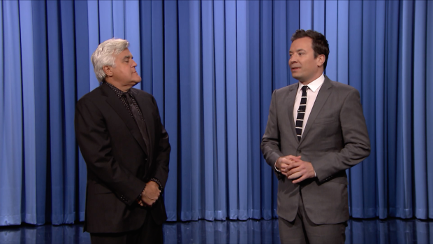 [NATL] Jay Leno Jumps In to Deliver 'Tonight Show' Monologue Jokes