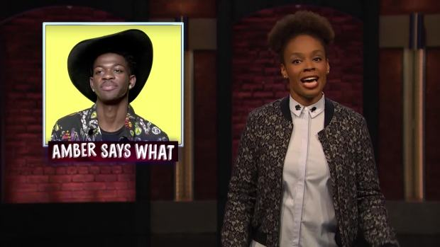 [NATL] 'Late Night': Amber Says 'What?' to Beyonce, Lil Nas X