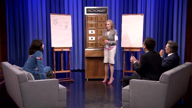 [NATL] 'Tonight Show': Pictionary With Shailene Woodley, Eugene Levy and Catherine O'Hara