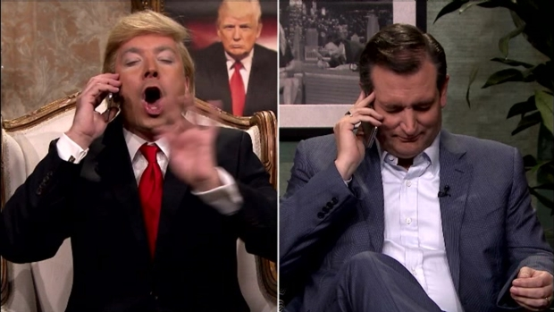 Jimmy Fallon's Trump Calls Ted Cruz