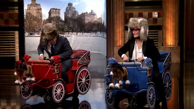 'Tonight Show': Carriage Race With Glenn Close