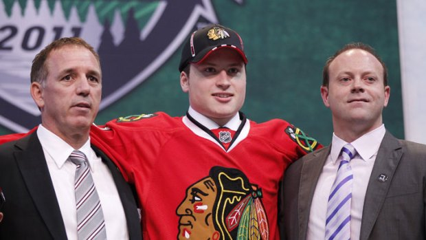 Blackhawks' Bowman Gets Brave in NHL Draft