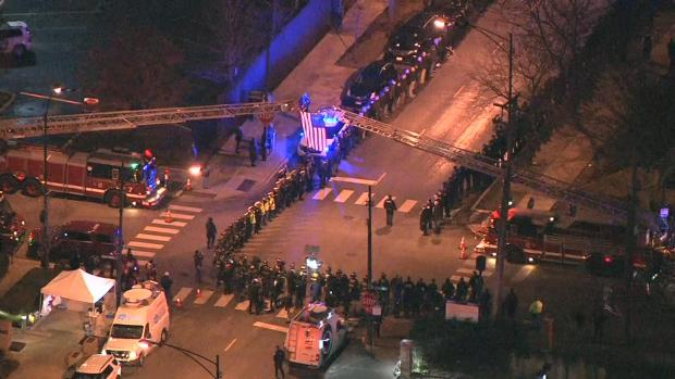 [CHI] Police Line Streets For Procession of Officer Killed at Mercy Hospital