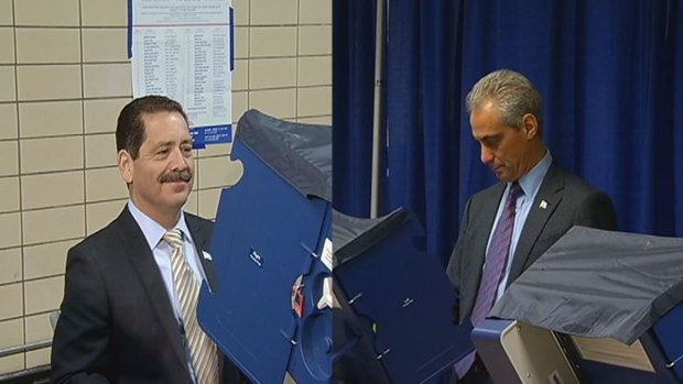 [CHI] Rahm, Chuy Cast Early Ballots