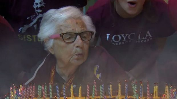 Loyola's Biggest Fan: Sister Jean Turns 99 Years Old