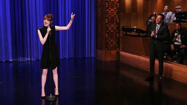 Watch: Emma Stone and Jimmy Fallon Lip Sync Battle
