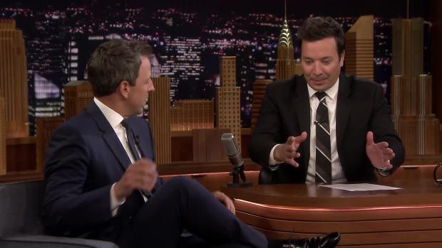 [NATL] 'Tonight': Seth Meyers Recounts His Baby's Dramatic Apartment Lobby Birth