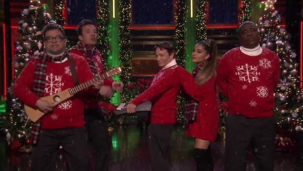 [NATL] 'Tonight': 'I Wish It Was Christmas Today' With Ariana Grande