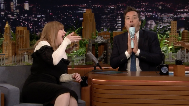 [NATL] 'Tonight': 'Jurassic World's' Bryce Dallas Howard Makes Animal Noises to Create Dinosaur Roars