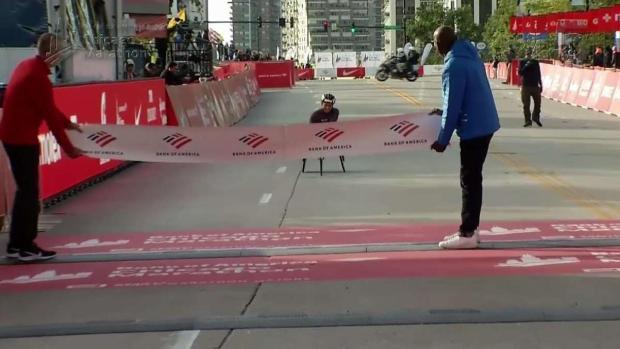 [CHI] See Schar Win 2019 Chicago Marathon Women's Wheelchair Race