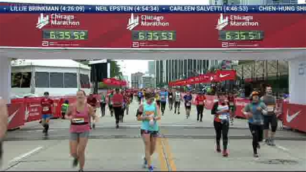 2018 Bank of America Chicago Marathon Finish: 6:33:25