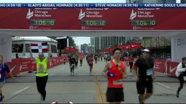 2018 Bank of America Chicago Marathon Finish: 7:04:32