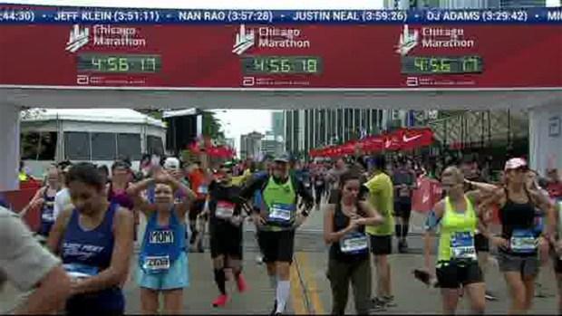 2018 Bank of America Chicago Marathon Finish: 4:55:56